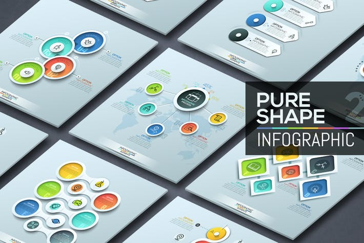 Thumbnail for Pure Shape Infographics. Part 2