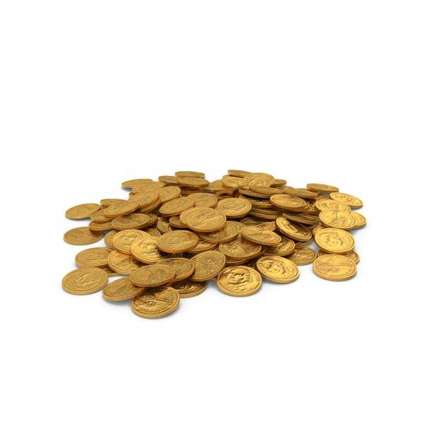 Монета куча золота