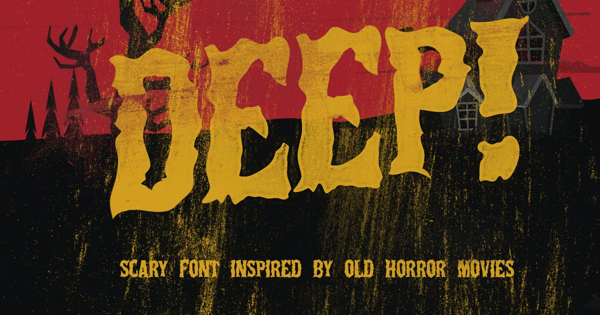 Download Deep Horror Font by LeoSupply
