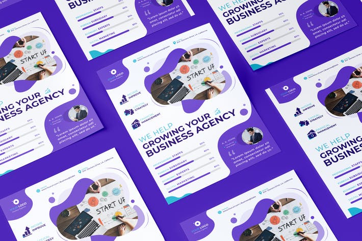 Thumbnail for Corporate, Business Flyer PSD Template