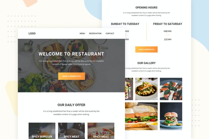 Thumbnail for Food Banners - Email Newsletter