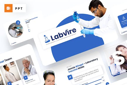 Labvire - Science Research Powerpoint Template
