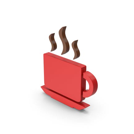 Coffee Cup Symbol Red