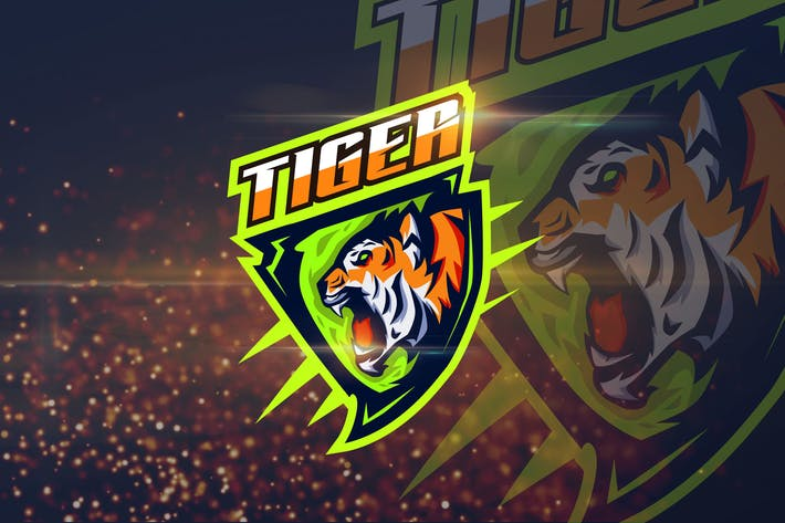 Thumbnail for Tiger - Angry Animal eSport Logo Template