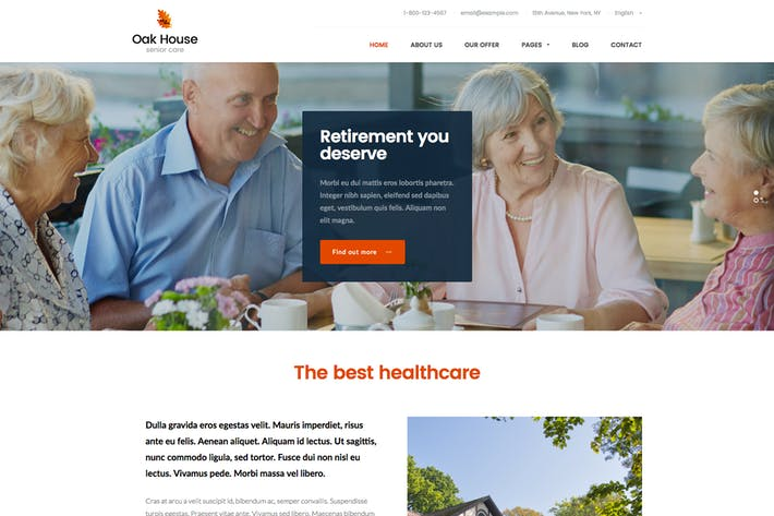 Thumbnail for House de Roble - Cuidado de Ancianos, Página de inicio de retiro
