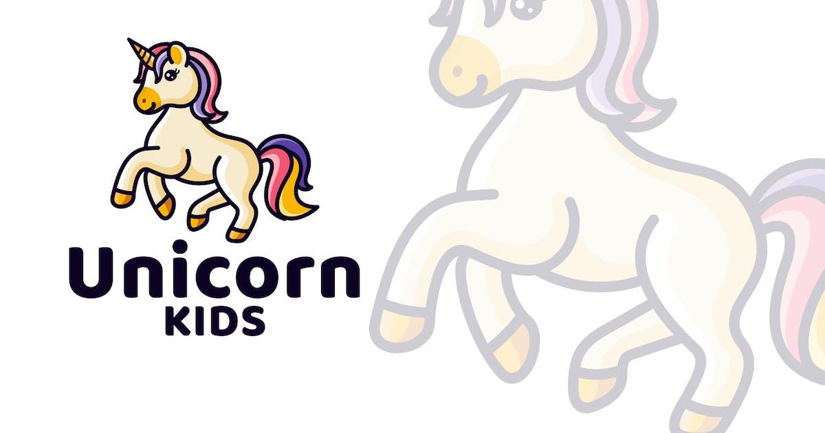 Download Unicorn Kids Cute Logo Template by IanMikraz