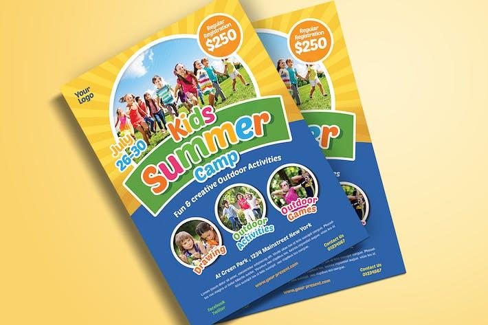 Thumbnail for Folleto de campamento de verano para Niños