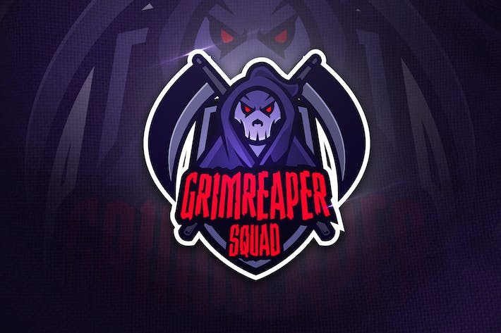 Thumbnail for Grimreaper Squad - Mascot Sports Logo