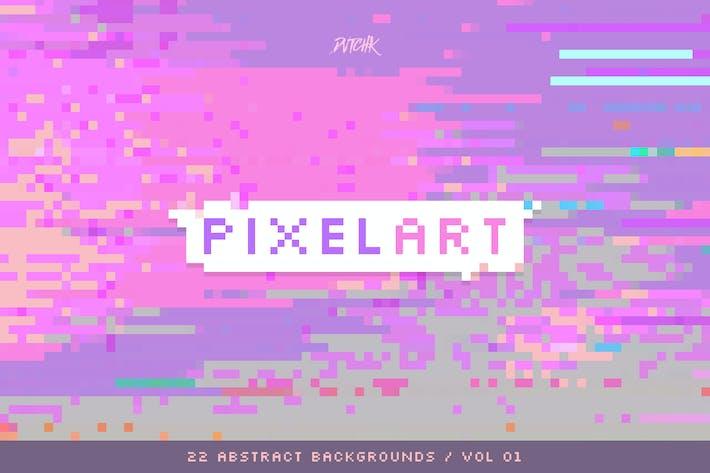 Thumbnail for Pixel Art | Colorful Backgrounds | V. 01
