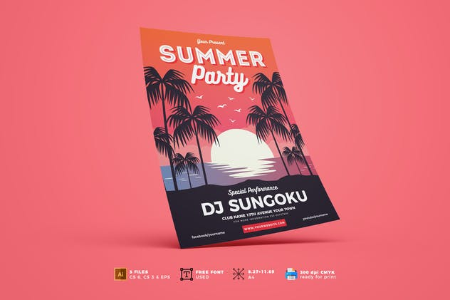 Summer Party Flyer Template Vol. 01