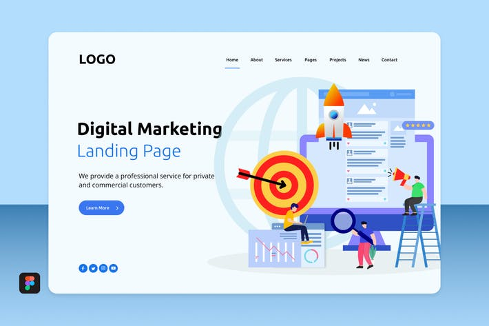 Thumbnail for Dimar - Digital Marketing Landing 5