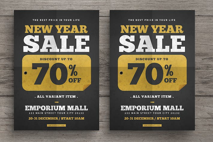 Cover Image For New year Sale Flyer