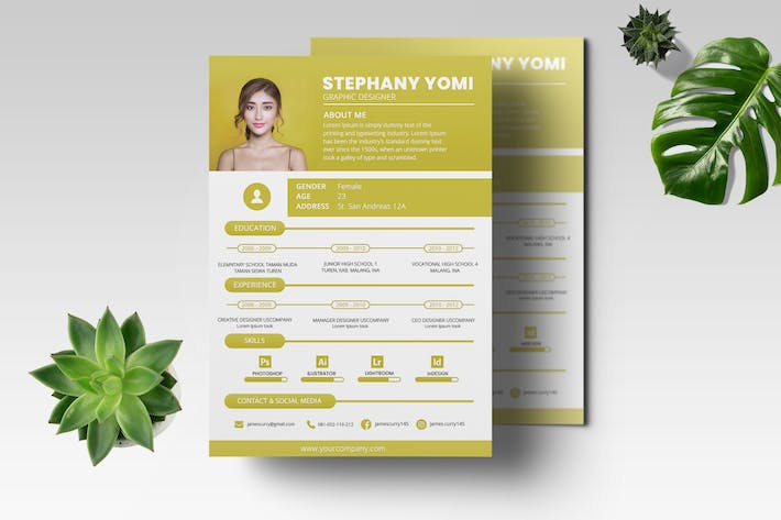 Thumbnail for CV Resume Professional Template Vol.02