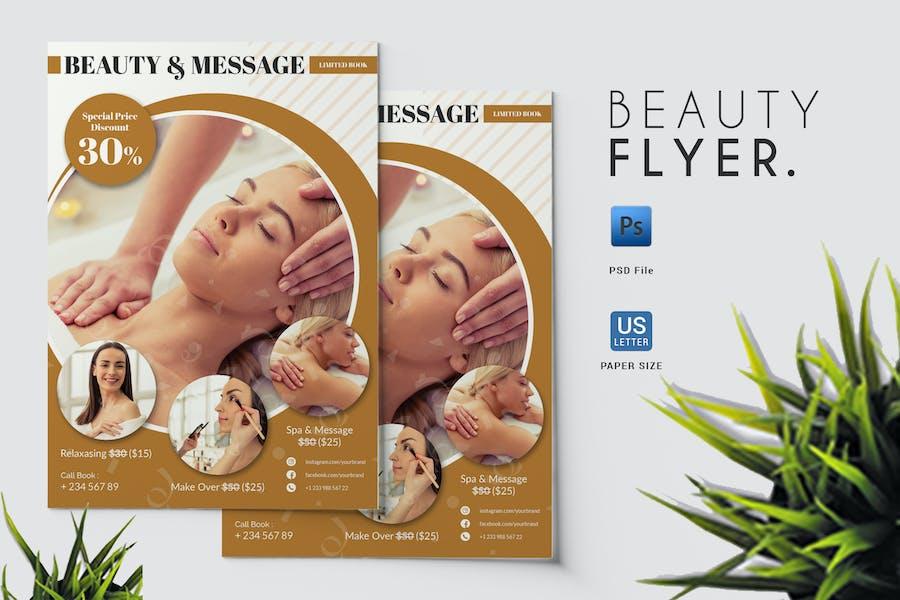 Beauty & Massage - Flyer Template