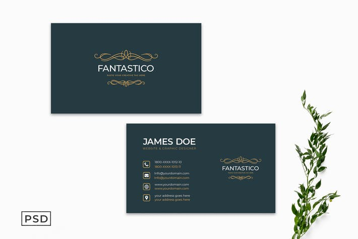 Thumbnail for Minimal Creative Business Card Template Vol. 2