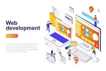 Web Development Isometric Concept