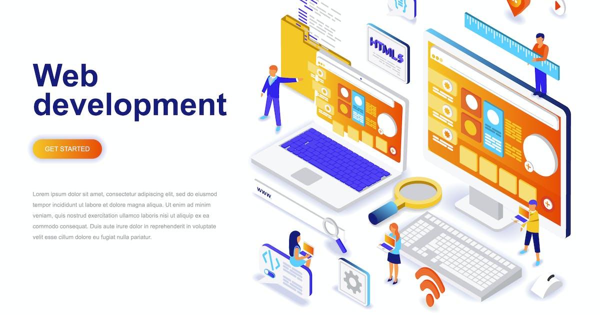 Download Web Development Isometric Concept by alexdndz