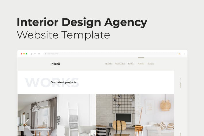 Thumbnail for Interior Design Agency – Landing Page PSD Template