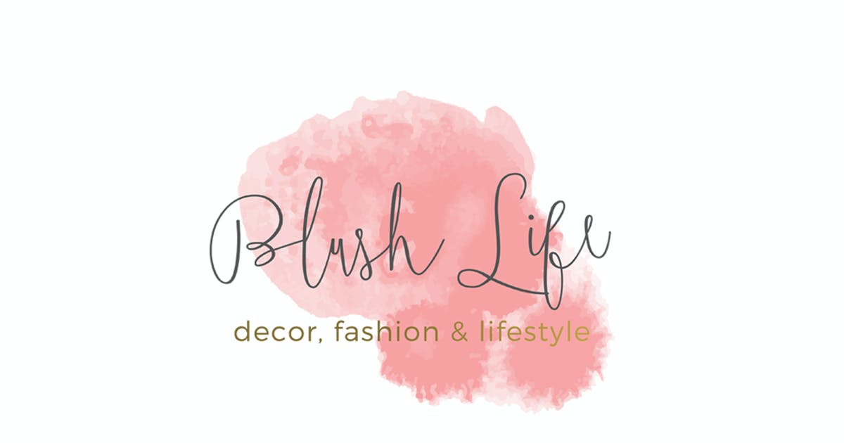 Download Blush Life Watercolor Logo Template by 83Oranges