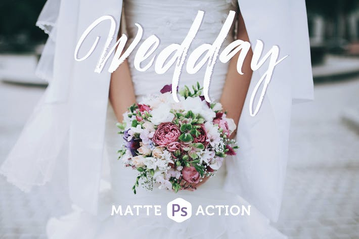 Thumbnail for Wedday Matte Photoshop Action