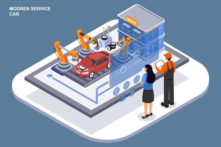 Thumbnail for Voiture de service moderne - Modèle d'Ilustration