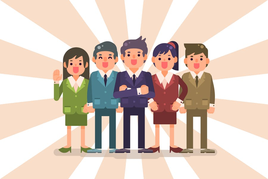 Business Team with Man and Woman