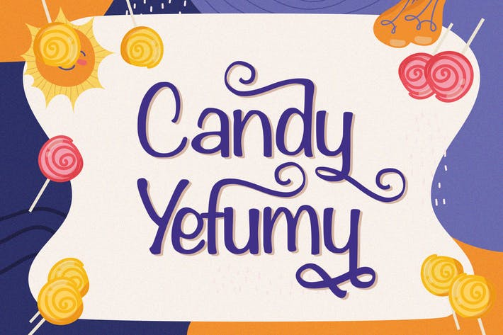 Thumbnail for Candy Yefumy - Fuente de pantalla juguetona