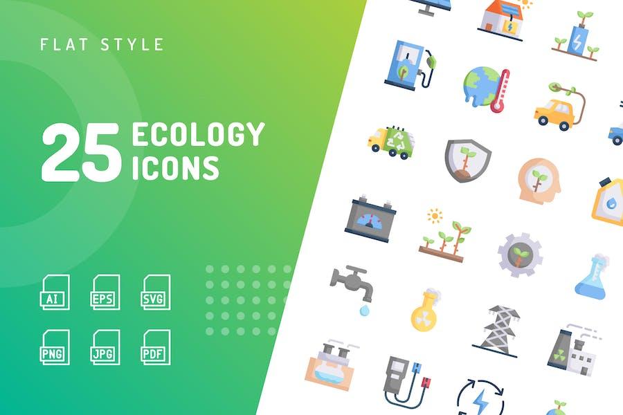 Ökologie Flache Icons