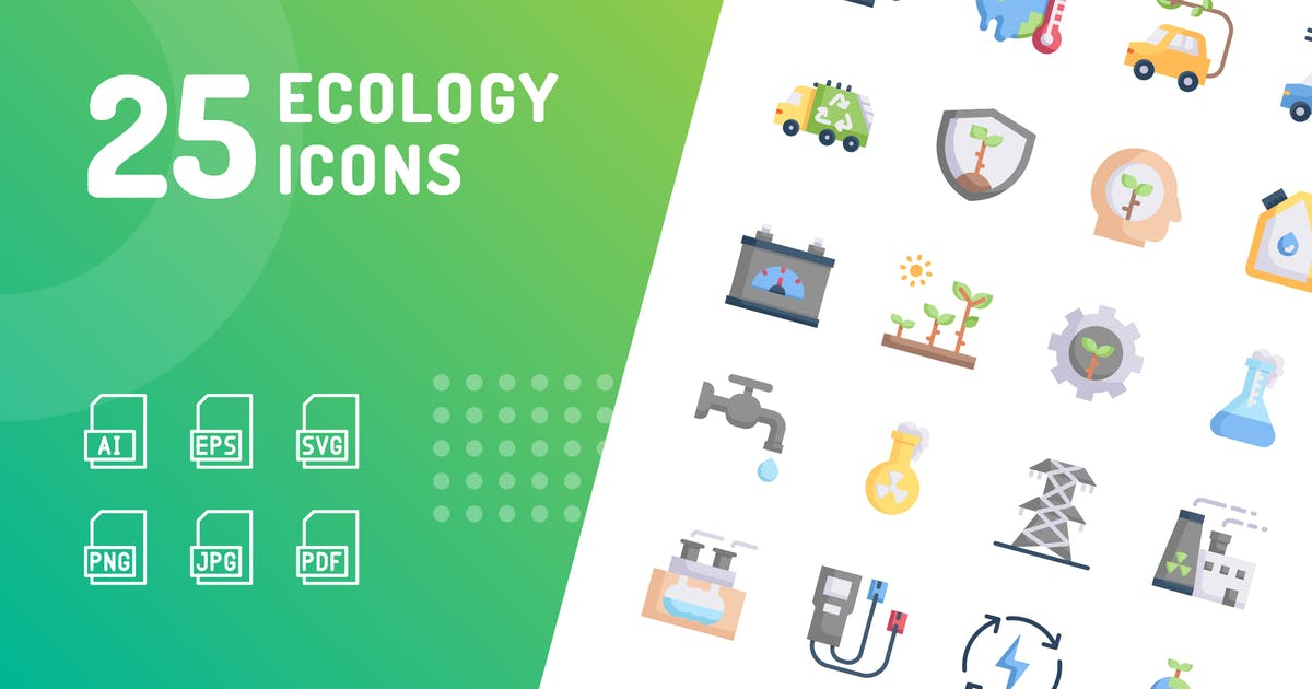 Download Ecology Flat Icons by kerismaker