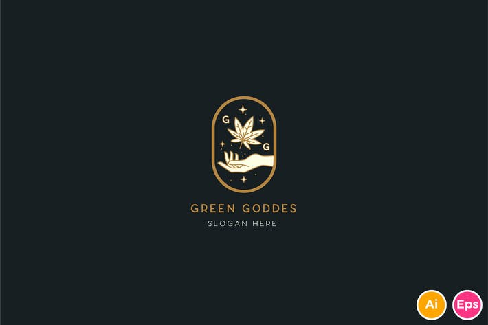 Thumbnail for Green Goddess Logo Template