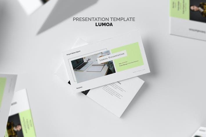 Thumbnail for Lumoa : Project Status Report Google Slides