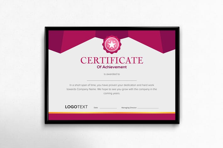 Thumbnail for Neat Geometric Purple and Grey Certificate