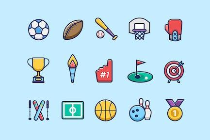 Icones ne de sport couleur