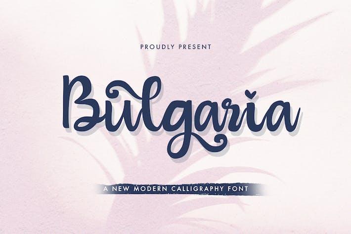Thumbnail for Bulgaria - Modern Calligraphy Font