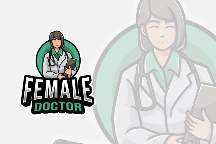 Thumbnail for Weiblicher Arzt Logovorlage