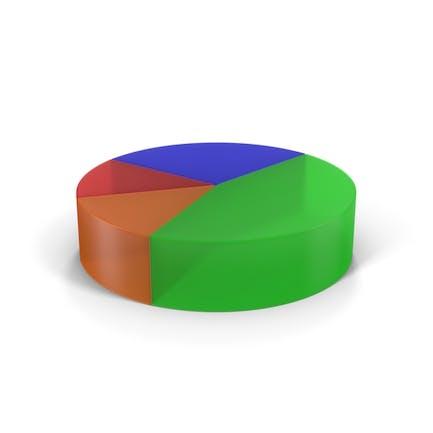 Translucent Multicolored Pie Chart
