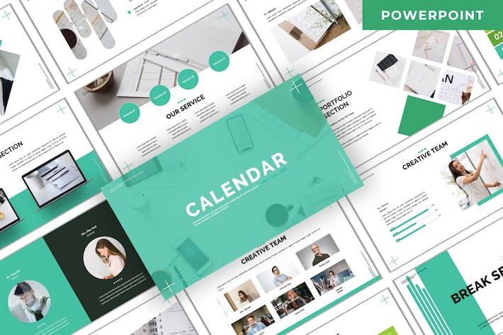 Thumbnail for Calendario - Plantilla de PowerPoint empresarial