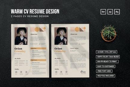 Warm Simple - CV Resume