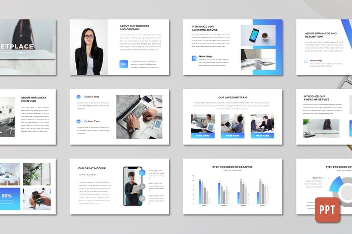 Thumbnail for Marketplace Business Proposal Template - (PPT)