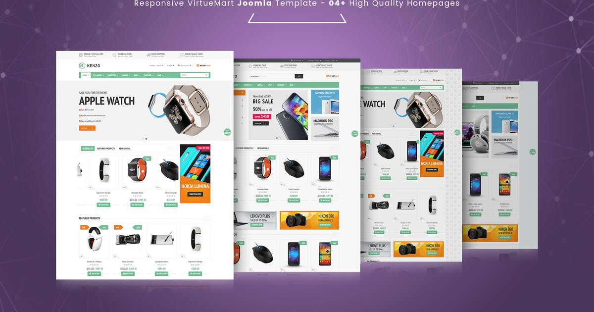 Download Kenzo - Responsive VirtueMart Joomla Template by vinagecko