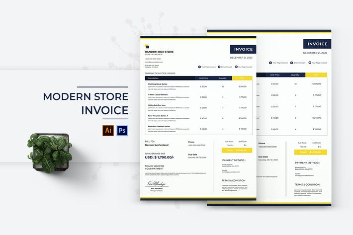 Thumbnail for Modern Store Invoice