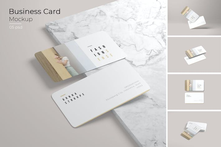 Thumbnail for Business Card Rounded Corners Mockup