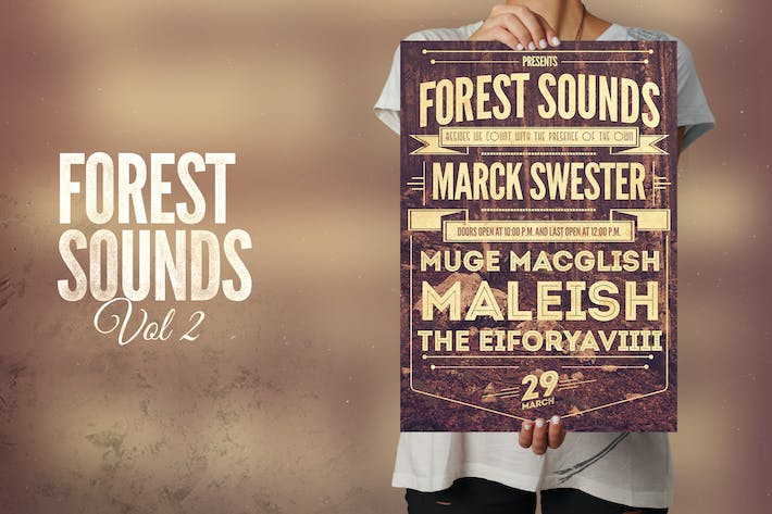 Thumbnail for Forest Sounds Flyer Poster