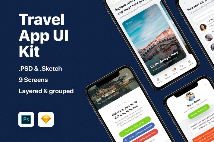 Thumbnail for Travel App UI Kit