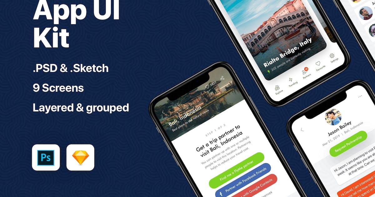 Download Travel App UI Kit by teamuxtheme