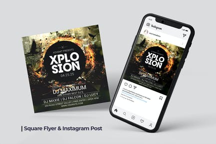 Plosion Flyer & Social Post