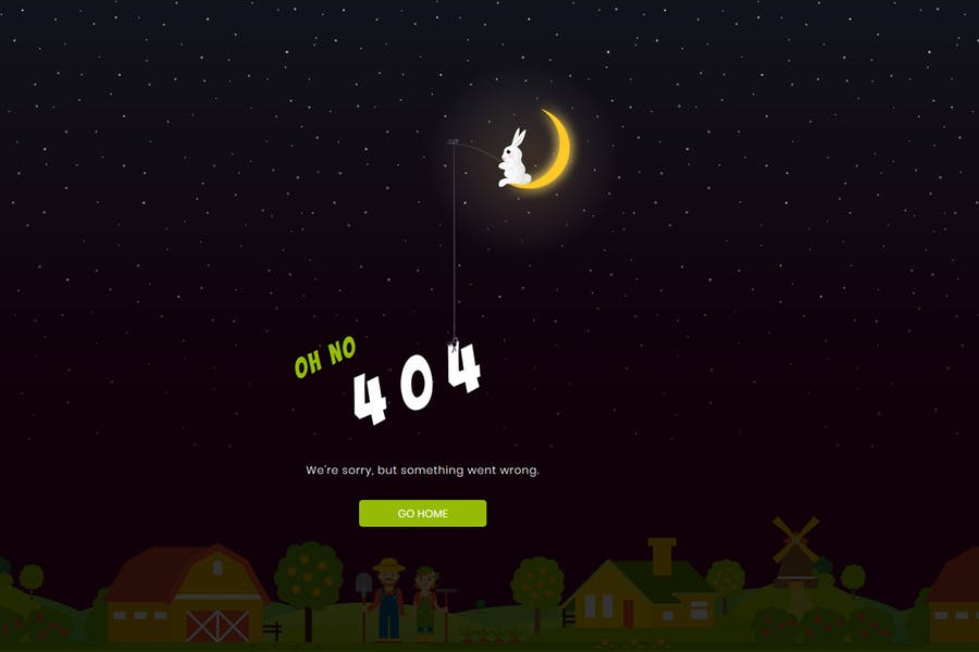 Sunset - Creative Animated 404 Page
