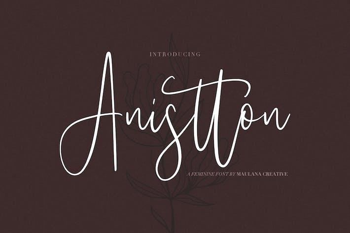 Thumbnail for Anistton - Feminine Font