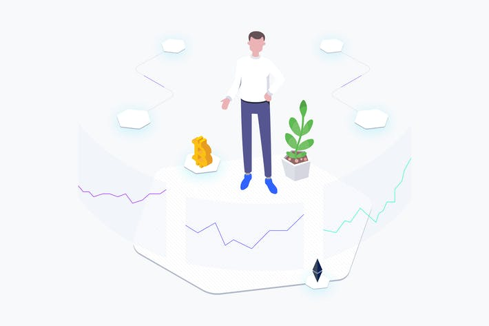Thumbnail for Exchange Blockchain Platform Isometric