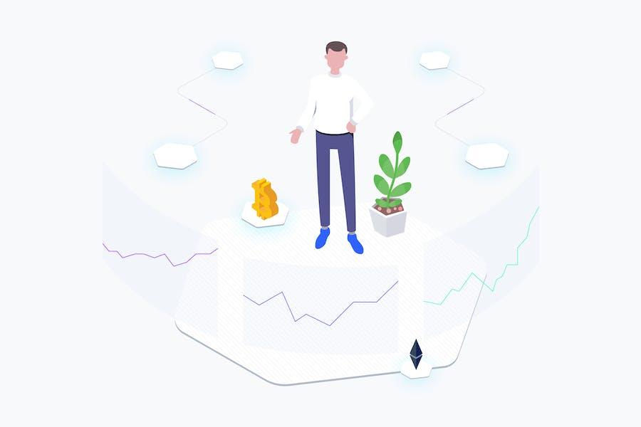 Exchange Blockchain Platform Isometric
